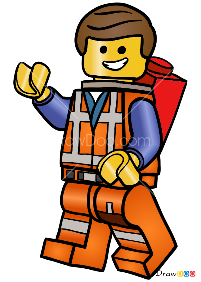 How to Draw Emmet, Lego City