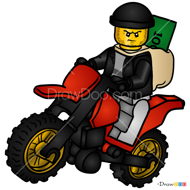 How to Draw High Speed Police Chase, Lego City