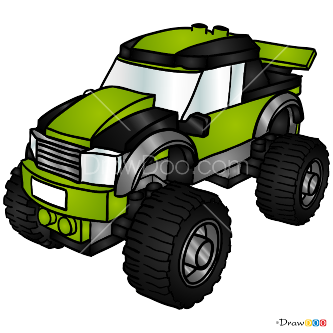 How To Draw Monster Truck Lego City