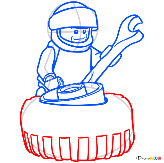 How to Draw Monster Truck Racer, Lego City