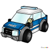 How to Draw Patrol Car, Lego City