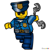 How to Draw Police Officer, Lego City