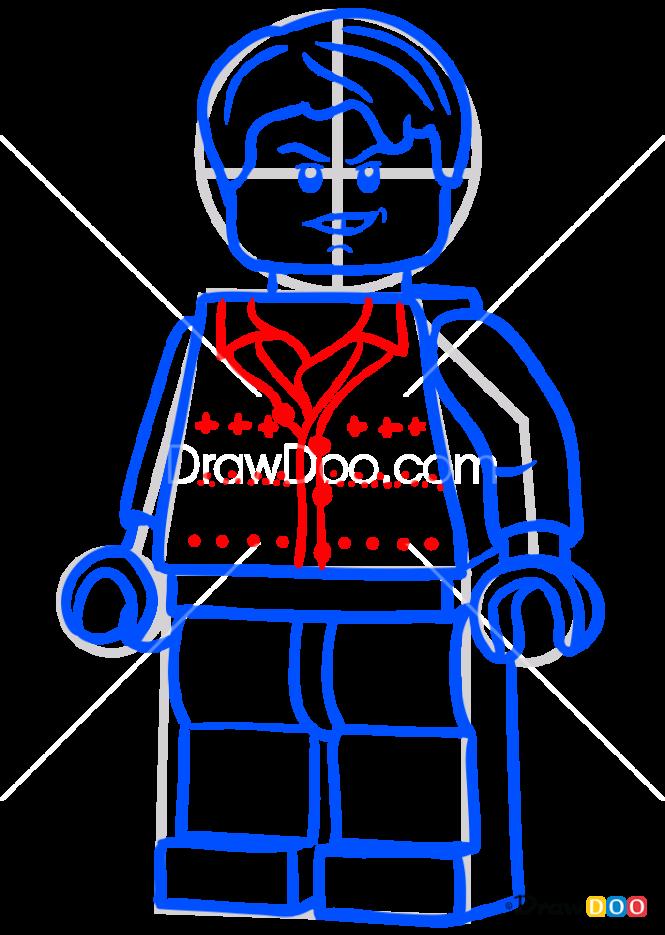 How to Draw Neville Longbottom, Lego Harry Potter