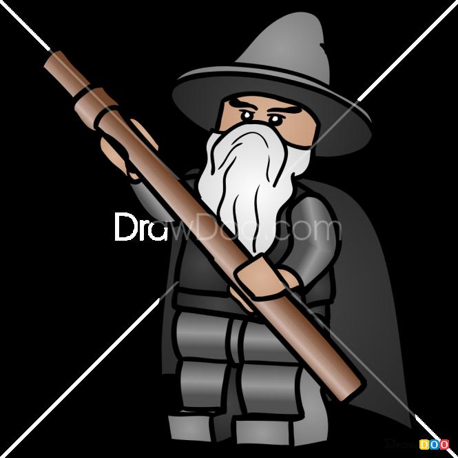How to Draw Gandalf, Lego Hobbit