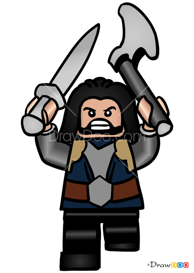 How to Draw Thorin, Lego Hobbit