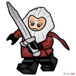 How to Draw Balin, Lego Hobbit