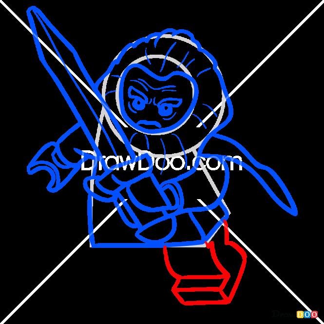 How to Draw Balin, Lego Hobbit