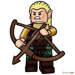 How to Draw Legolas, Lego Hobbit
