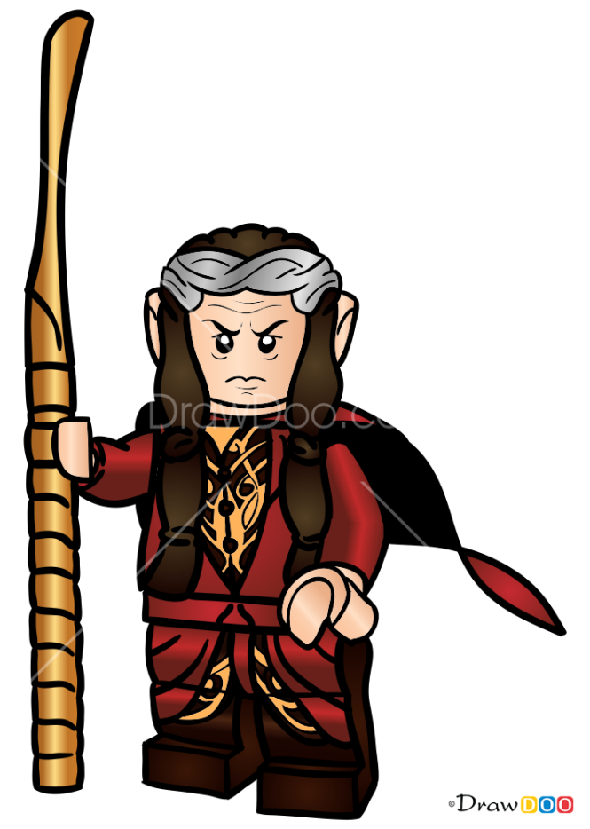 How to Draw Elrond, Lego Hobbit