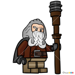 How to Draw Oin, Lego Hobbit