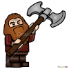 How to Draw Gloin, Lego Hobbit