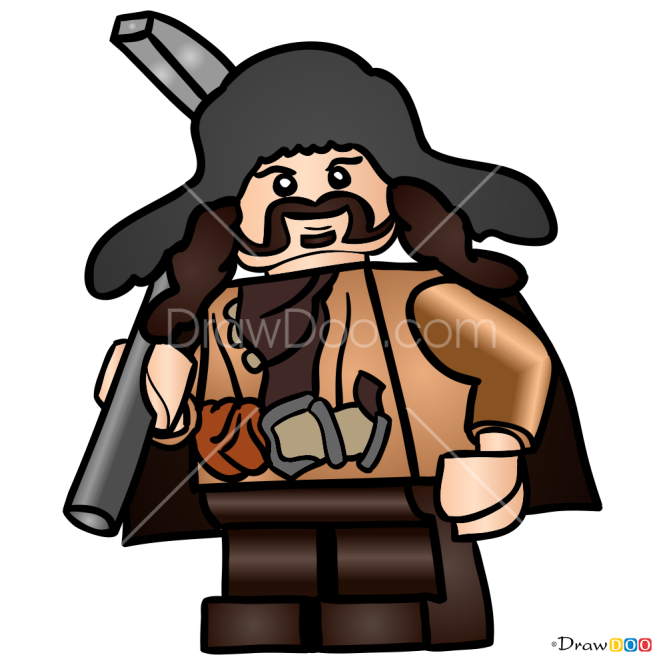 How to Draw Bofur, Lego Hobbit
