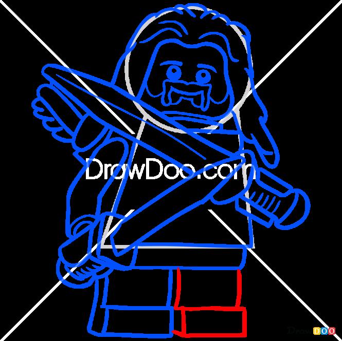 How to Draw Fili, Lego Hobbit