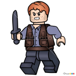 How to Draw Owen Grady, Lego Jurassic World