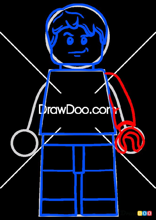 How to Draw Zack Mitchell, Lego Jurassic World