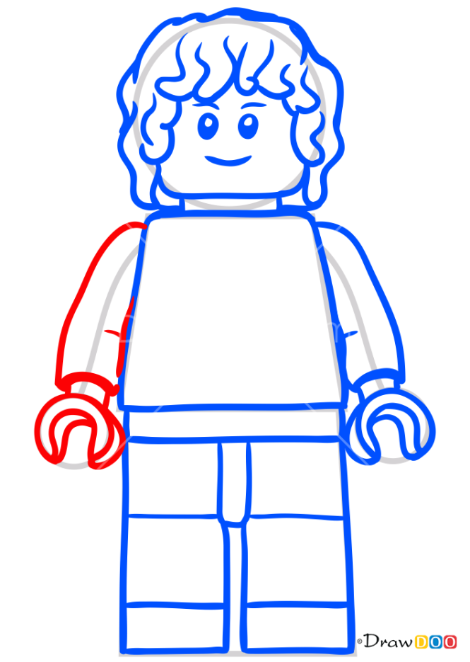 How to Draw Gray Mitchell, Lego Jurassic World