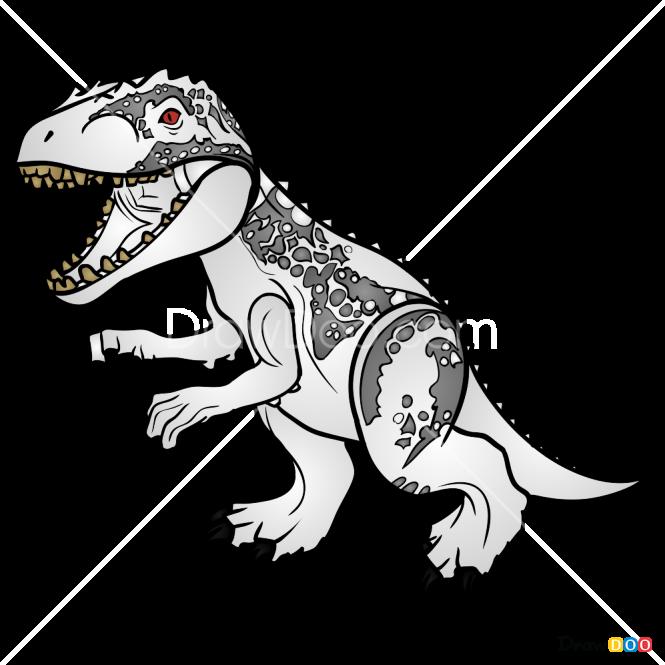 How To Draw Indominus Rex Lego Jurassic World
