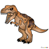 How to Draw Tyrannosaurus, Lego Jurassic World