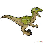 How to Draw Velociraptor Delta, Lego Jurassic World