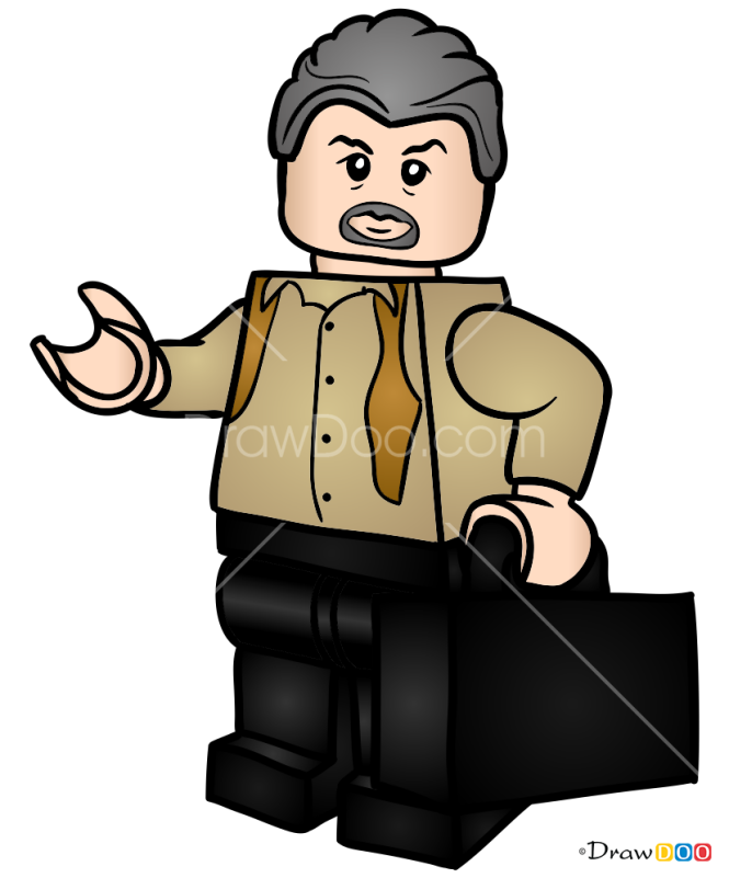 How to Draw Vic Hoskins, Lego Jurassic World