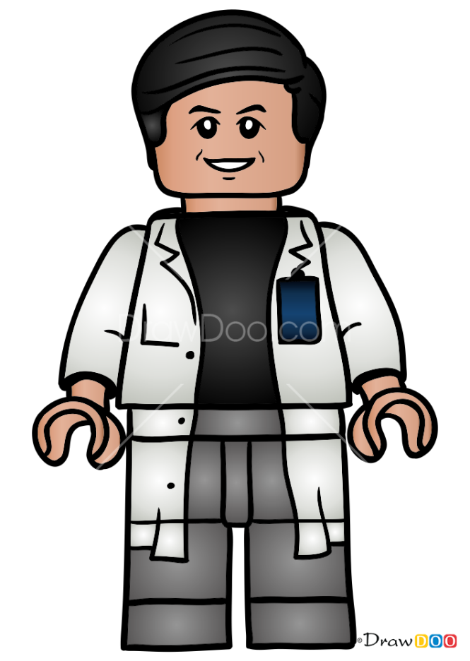 How to Draw Dr. Henry Wu, Lego Jurassic World