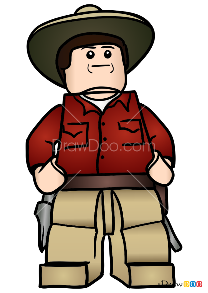 How to Draw Alan Grant, Lego Jurassic World