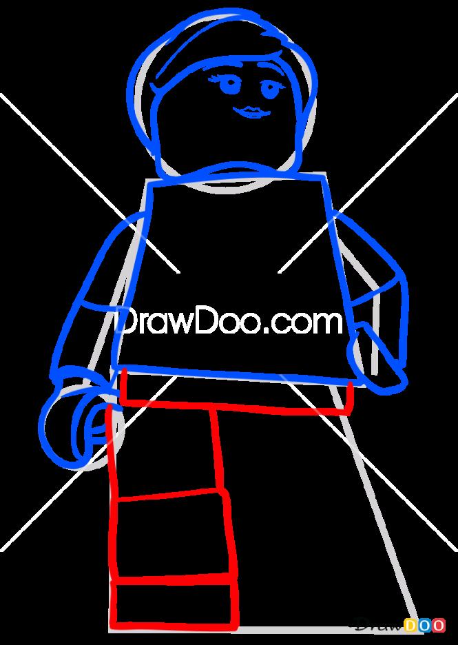 How to Draw Ellie Sattler, Lego Jurassic World