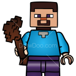 How to Draw Steve, Lego Minecraft