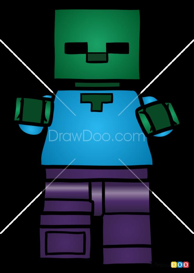 How to Draw Zombie, Lego Minecraft