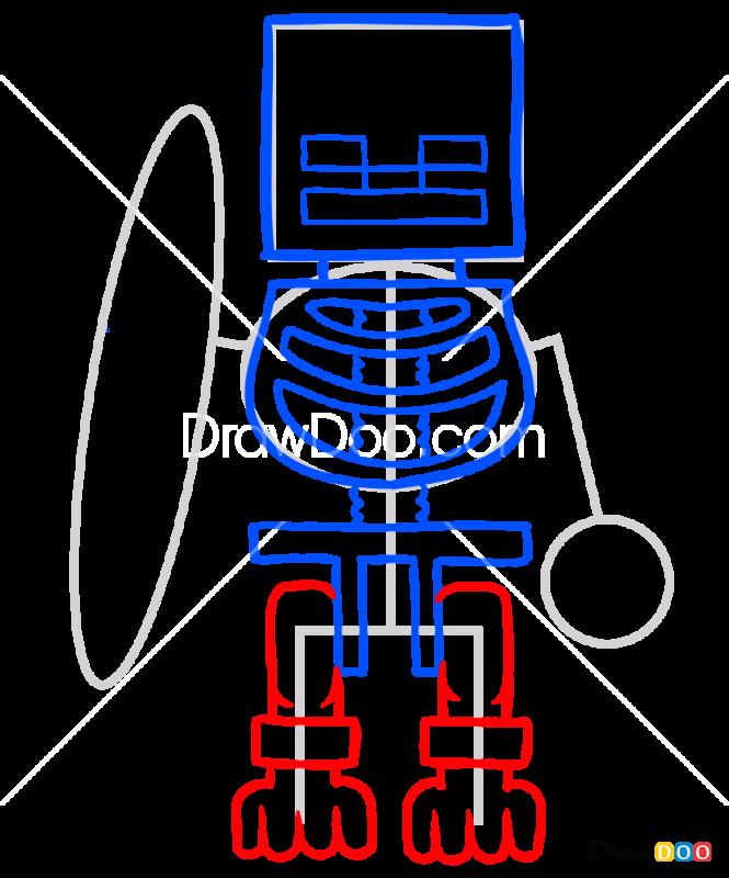 How to Draw Skeleton, Lego Minecraft