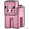 How to Draw Pig, Lego Minecraft