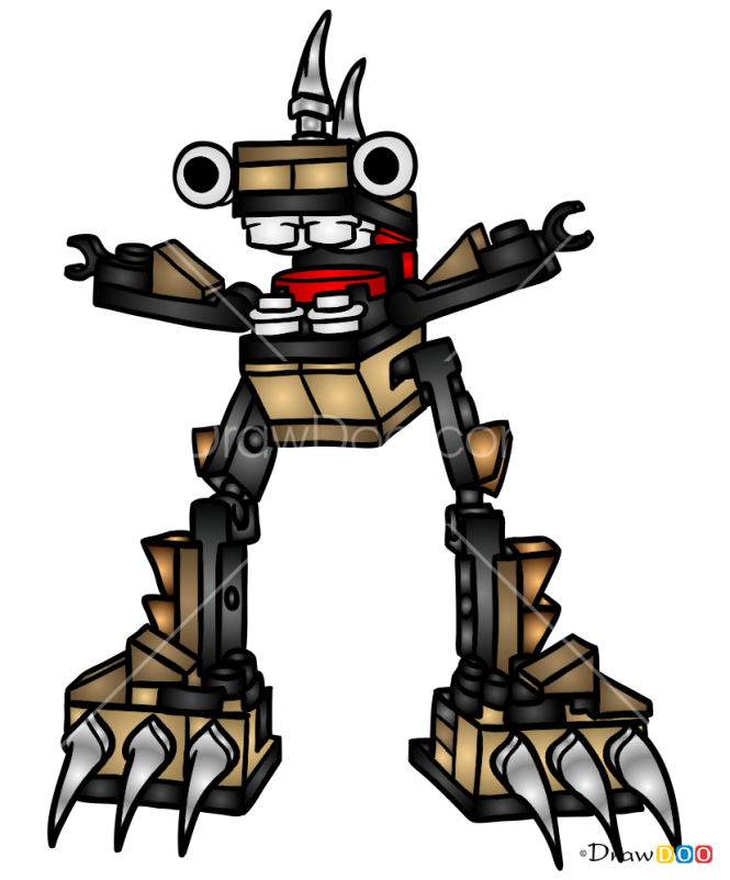 How to Draw Footi, Lego Mixels