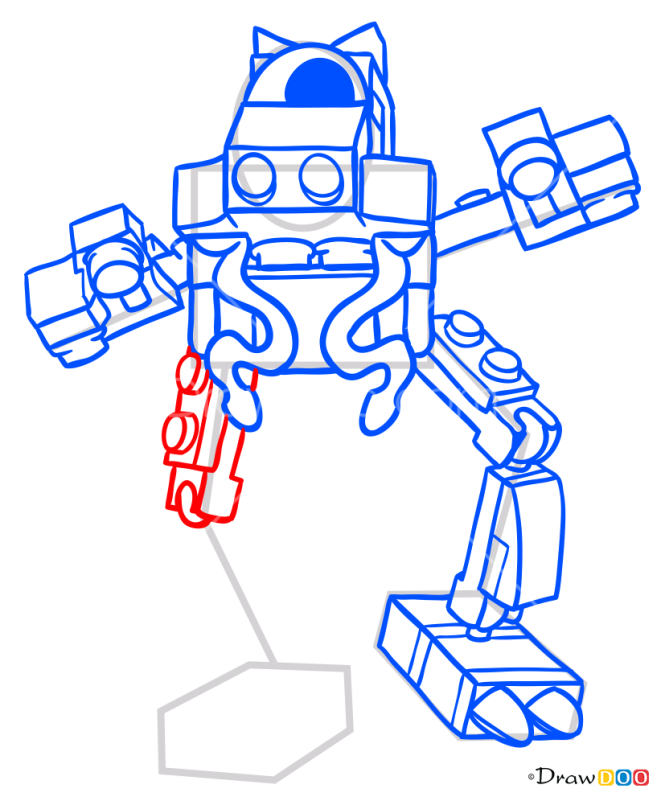 How to Draw Glomp, Lego Mixels