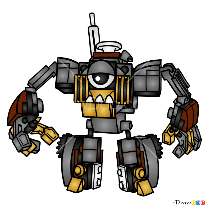 How to Draw Gox, Lego Mixels
