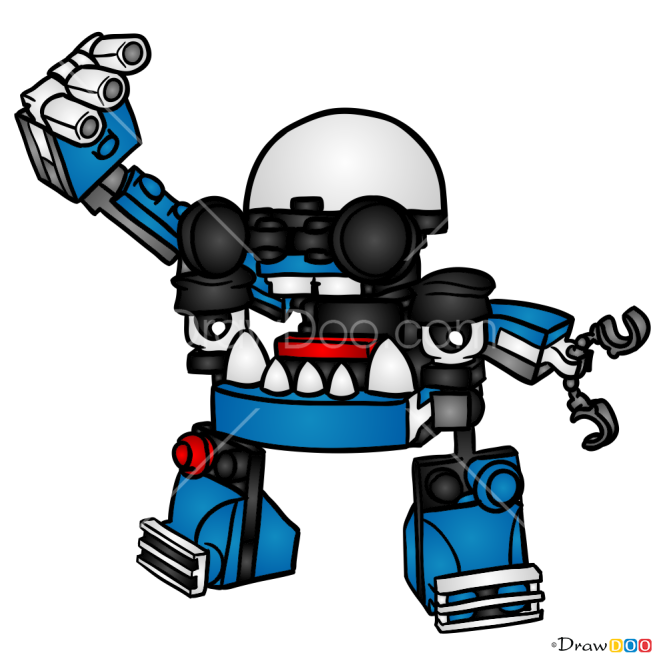 How to Draw Kuffs, Lego Mixels