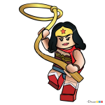 How to Draw Wonder Woman, Lego Movie
