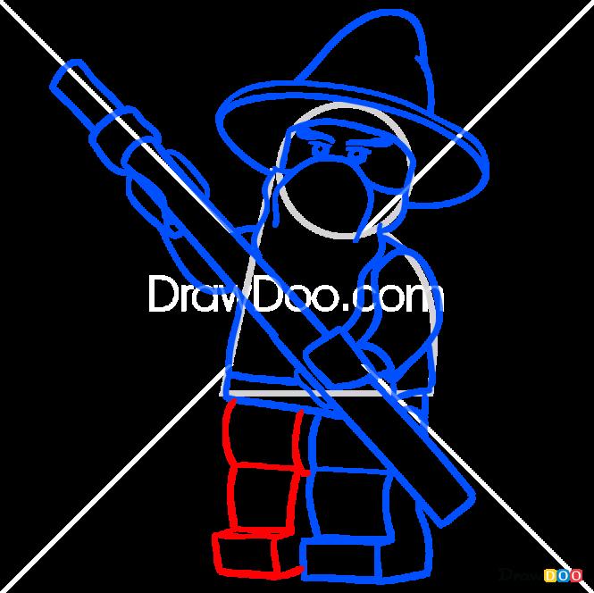 How to Draw Gandalf, Lego Movie
