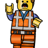 How to Draw Running Emmet, Lego Movie