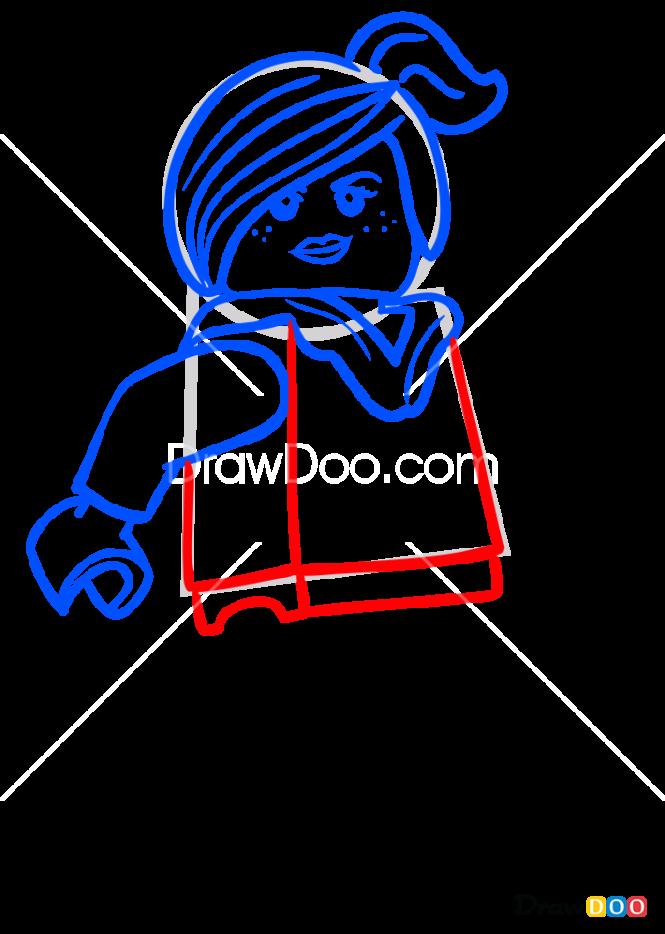 How to Draw Wyldstyle, Lego Movie