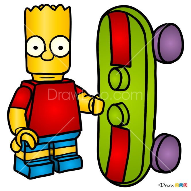 How to Draw Bart Simpson, Lego Simpsons