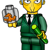 How to Draw State Comptroller Atkins, Lego Simpsons