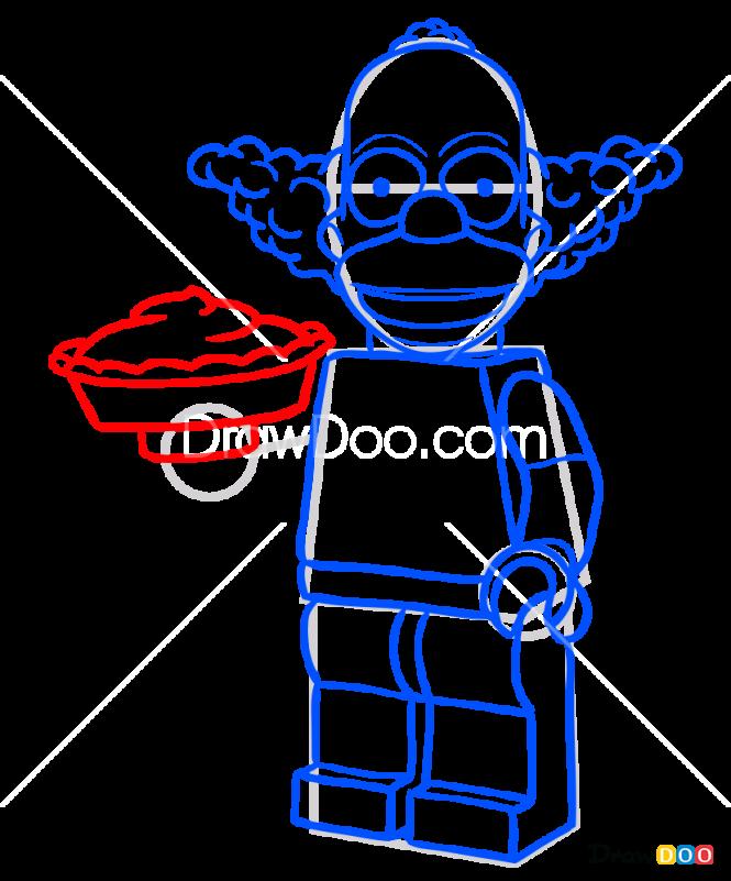 How to Draw Clown Krusty, Lego Simpsons