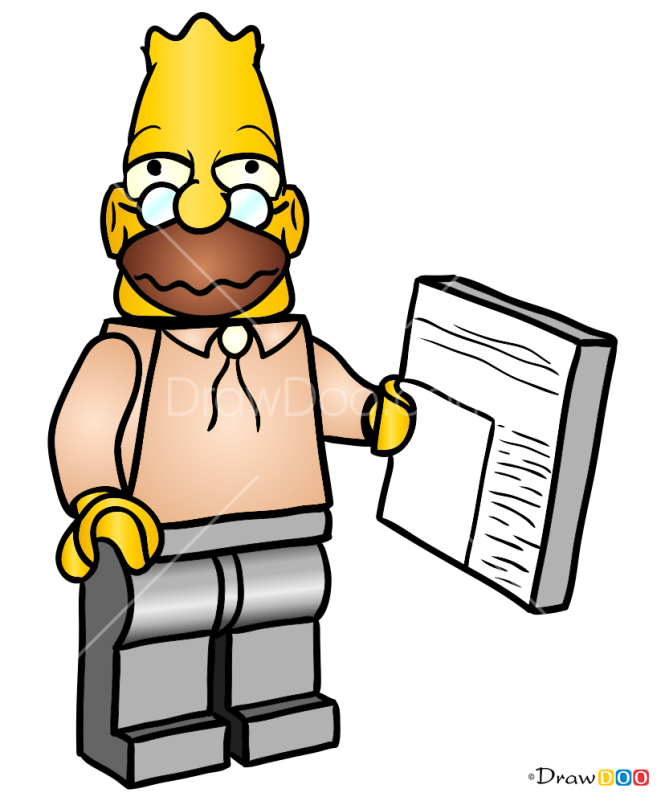 How to Draw Grandpa, Lego Simpsons