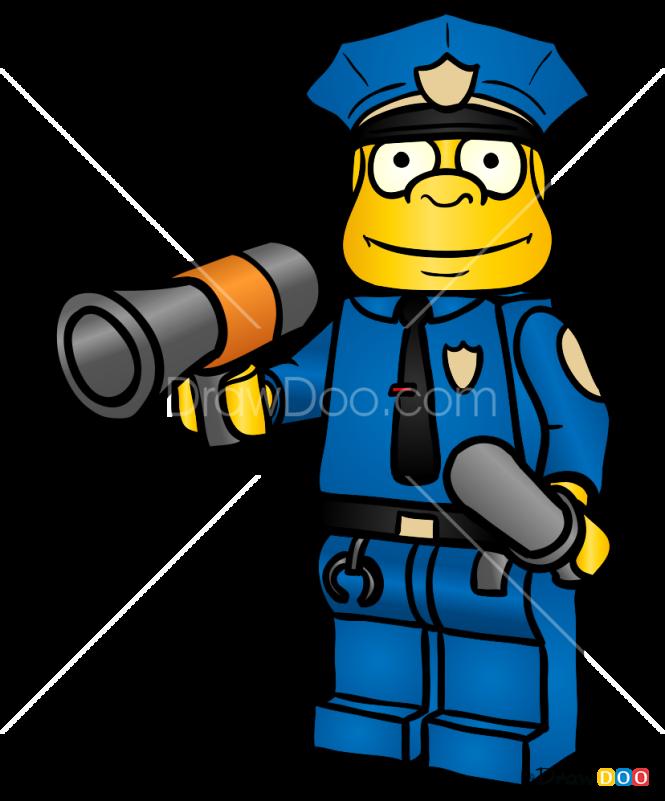 How to Draw Chief Wiggum, Lego Simpsons