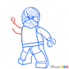 How to Draw Cole, Lego Ninjago
