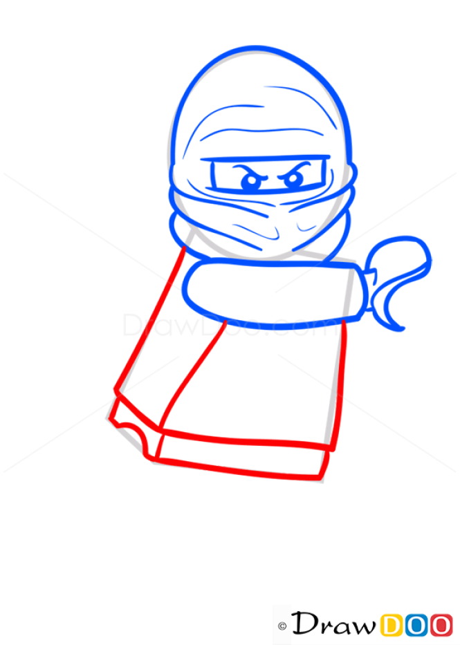 How to Draw Kai, Lego Ninjago