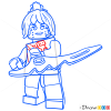 How to Draw P.I.X.A.L., Lego Ninjago