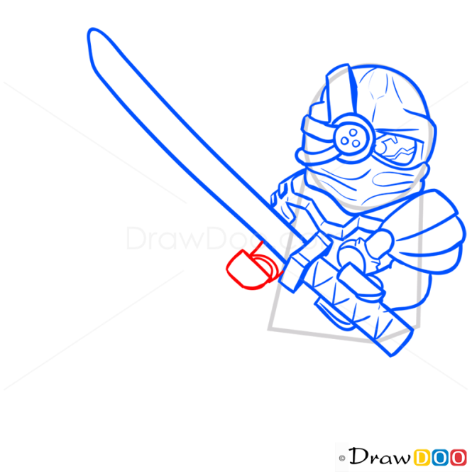 How to Draw General Cryptor, Lego Ninjago