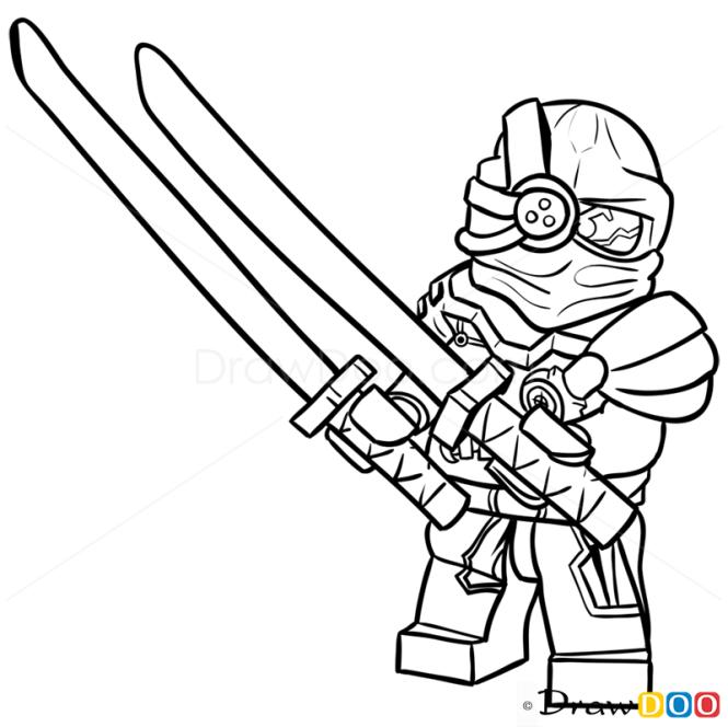How To Draw General Cryptor Lego Ninjago