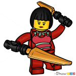 How to Draw Nya, Lego Ninjago